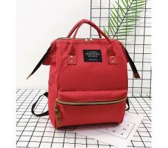 Великий рюкзак-сумка червоний