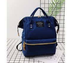 Большой рюкзак-сумка синий