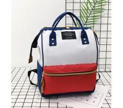 Большой рюкзак-сумка красно-белый