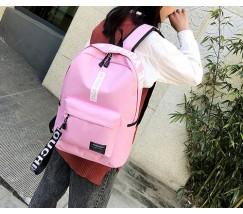 Вместительный рюкзак с ткани розовый