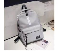 Вместительный рюкзак с ткани серый