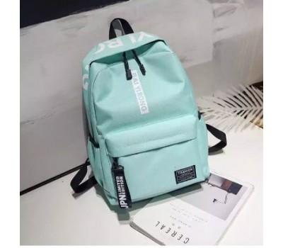 Вместительный рюкзак с ткани голубой
