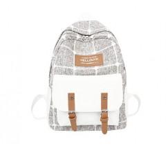 Большой тканевой рюкзак с ткани серый