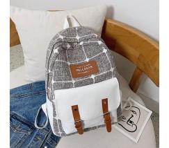 Большой тканевой рюкзак с ткани коричневый