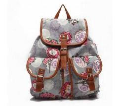 Рюкзак женский городской Хиппи серый