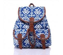 Рюкзак женский городской Хиппи сине-белый