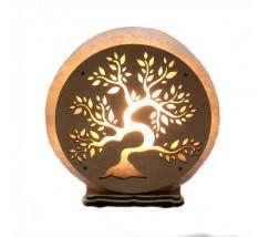 """Соляний світильник круглий """"Дерево"""""""