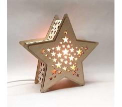 """Соляной светильник """"Звезда из дерева"""""""
