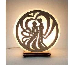 """Соляний світильник круглий """"Танець кохання"""""""