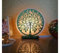 """Соляний світильник круглий """"Дерево кохання"""" кольоровий"""