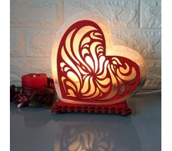"""Соляний світильник """"Серце"""" кольоровий"""