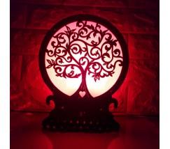 """Соляна лампа з кольоровою підсвіткою """"Дерево"""""""