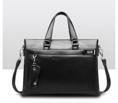 Качественная мужская сумка для документов черная