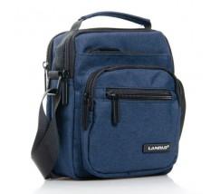 Тканинна чоловіча сумка синя