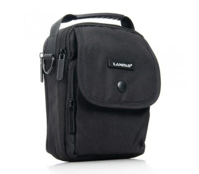 Маленькая мужская сумка с ткани черная