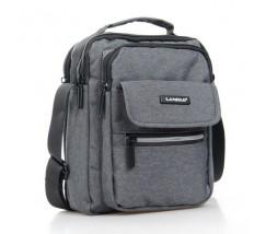 Компактная мужская сумка с ткани серая