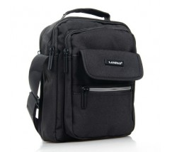 Компактная мужская сумка с ткани черная