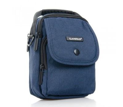 Маленькая мужская сумка с ткани синяя