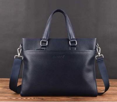 Мужская сумка для документов темно-синяя