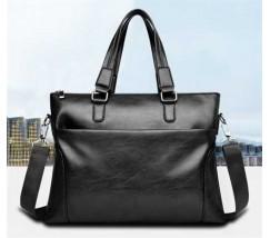 Мужская сумка для бумаг черная