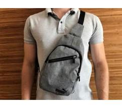 Спортивная сумка на грудь Puma серая
