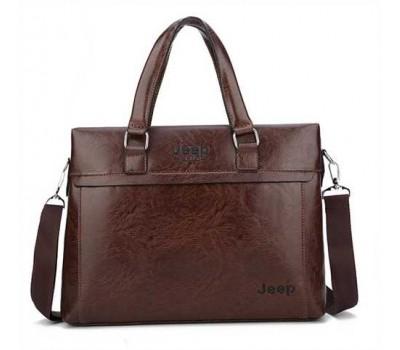 Мужская сумка портфель деловой темно-коричневый