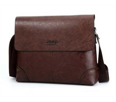 Качественная мужская сумка темно-коричневая