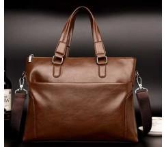 Мужская сумка для бумаг коричневая