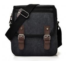 Мужская сумка с ткани черная