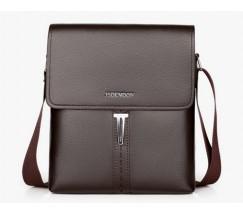 Модная мужская сумка коричневая