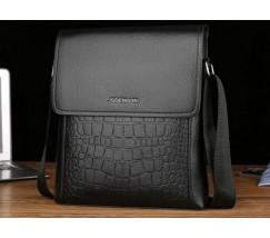 Мужская сумка-планшет под крокодила черная