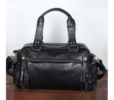 Вместительная мужская сумка черная