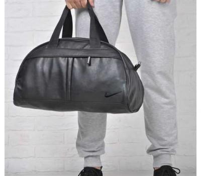 Спортивная черная сумка Nike кожзам