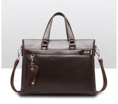 Качественная мужская сумка для документов коричневая