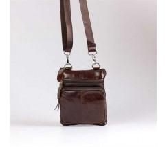 Чоловіча шкіряна сумка коричнева