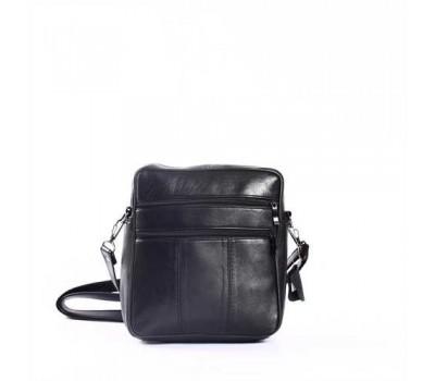 Классическая мужская сумка кожаная черная