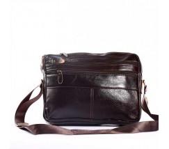 Компактный мужской портфель-сумка  коричневый