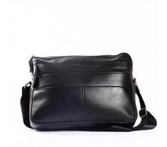 Компактный мужской портфель-сумка черный