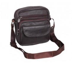 Шкіряна сумка чоловіча коричневого кольору