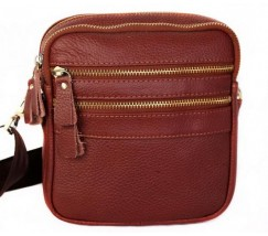 Гарна шкіряна сумка чоловіча коричнева