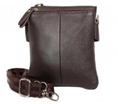 Шкіряна чоловіча сумка коричнева