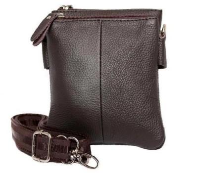 Кожаная мужская сумка коричневая