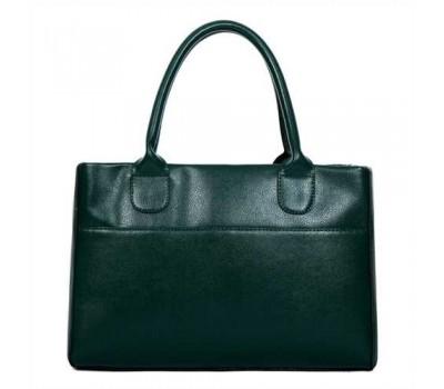 Женская сумка классическая вместительная зеленая