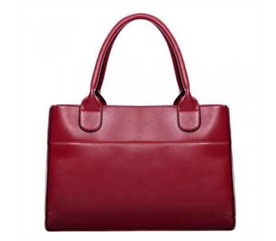 Женская сумка классическая вместительная красная
