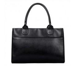 Жіноча сумка класична містка чорна