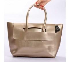 Велика жіноча сумка золота