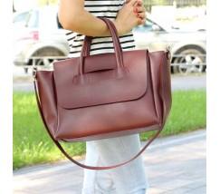 Велика жіноча сумка бордова