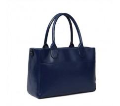 Женская сумка классическая вместительная синяя