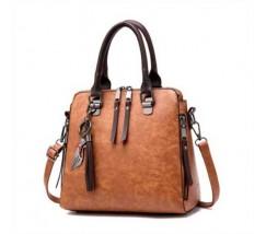 Модная женская сумка коричневая