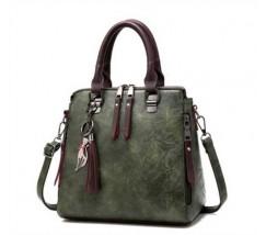 Модная женская сумка зеленая